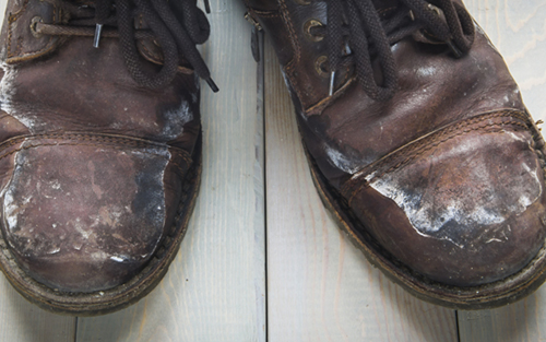 デート靴が汚い